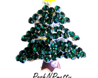 TWO Christmas Tree Slider - for 3/8 ribbon