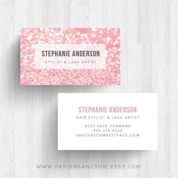 250 or 500 Custom Glitter Business Card Calling Card Makeup