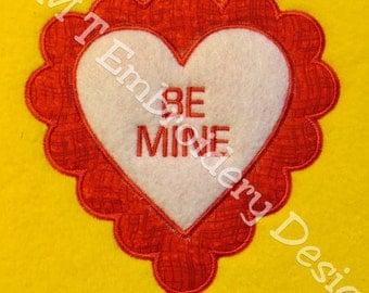 Valentine Hearts - Be Mine Applique Designs - 2 Sizes