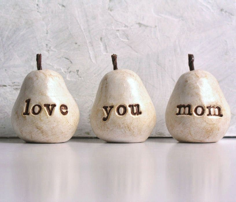 Nice Presents For Mom Part - 46: Gift For Mom / Motheru0027s Day Gift For Her / 3 Love You Mom Pears /