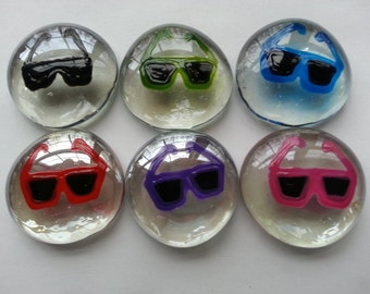 Hand painted large glass gems party favors sunglasses sun glasses beach summer time