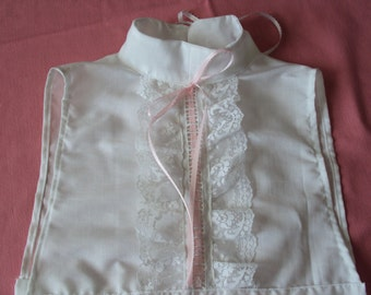 Camisole Dickie  insert for Victorian dresses--collar, high neck dickie collar