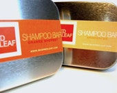 Mens Shampoo Bar With Metal Case For Travel, Mens Natural Solid Shampoo Bar, Vegan