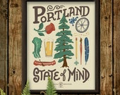 Portland State of Mind 11x14 poster