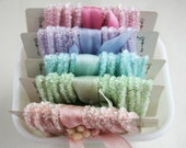 RESERVED for ANGELA Pastel Tinsel Trim Collection -  60 Feet Tinsel Packaging String - Pastel Wedding Trim -  Decoration