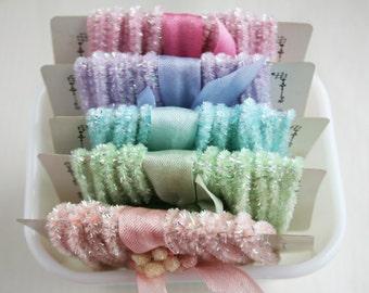 Pastel Tinsel Trim Collection -  60 Feet Tinsel Packaging String - Pastel Wedding Trim -  Decoration