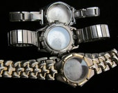 Steampunk Watch Cases Bands Vintage Antique Bracelets Altered Art PS 51
