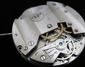Gorgeous Vintage Antique Watch Pocket Watch Movement Steampunk Altered Art OM 2