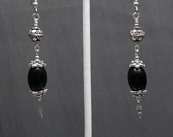Blackstone Dangle Earrings