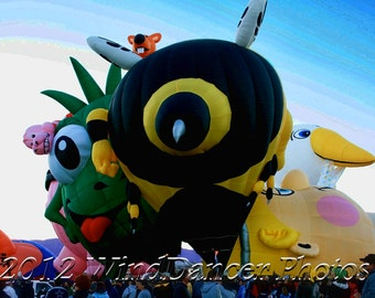 Hot Air Balloons - Fine Art Photo - Balloon Fiesta - Travel Photo - Matted 9 x 12 Photo - Metallic Print - Balloonists - Home Decor - Kids
