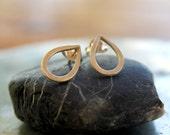 Tear Drop Studs Drop Post Earrings Everyday Studs Metalwork Sterling Silver
