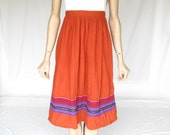 Vintage 70s Beautiful Cotton Boho Skirt