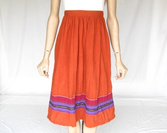 Vintage 70s Beautiful Cotton Boho Skirt