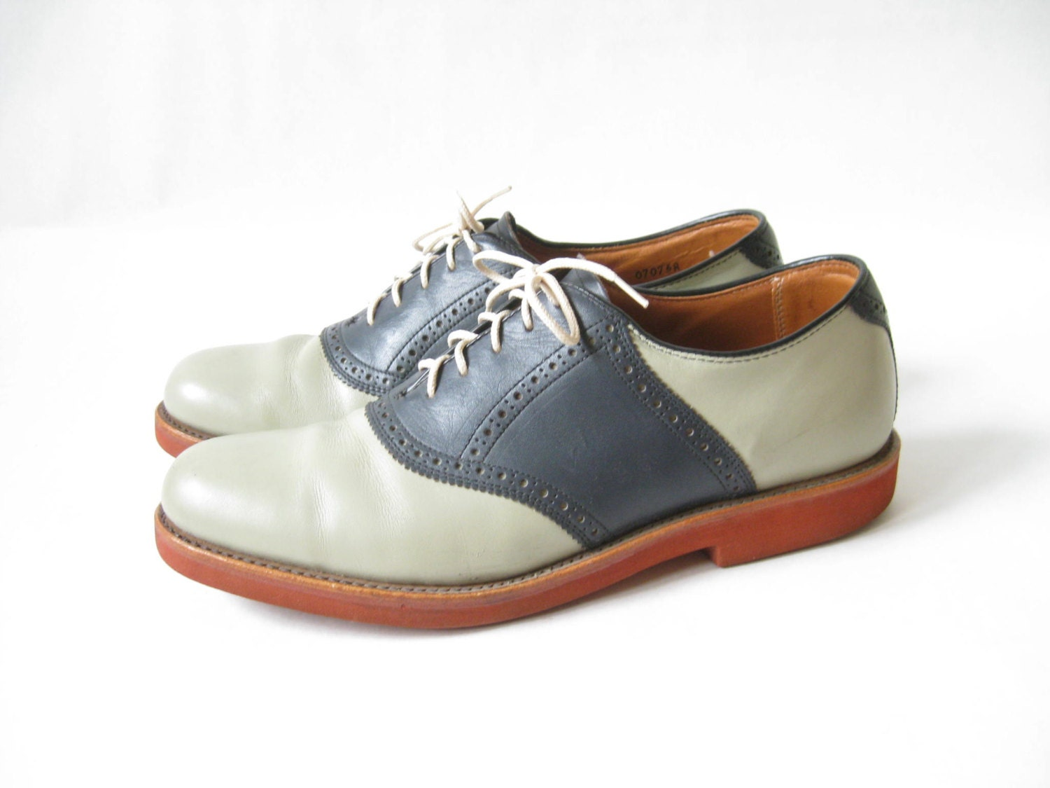 Mens Tan Saddle Shoes