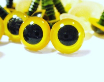 12mm Yellow crystal Safety Eyes- 10pairs (20pcs)