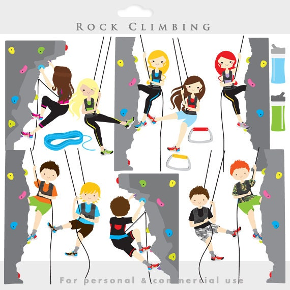 Rock climbing clipart rock climbing clip art sport health