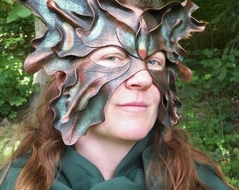 Brown Great Fairy Leather Mask