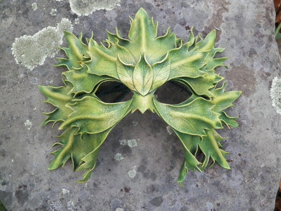 Great Greenman leather mask