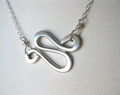 Gold Filled or Sterling Silver Winding Road Necklace