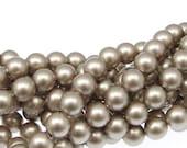 100 PLATINUM 6mm Swarovski Pearls - Swarovski Crystal Pearls - 5810 6mm Pearls - Neutral Beige Pearl Beads - Swarovski Beads