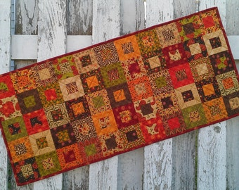 Quilted Table Runner - Cedar Box - Posh Pumpkin (TGTRO)