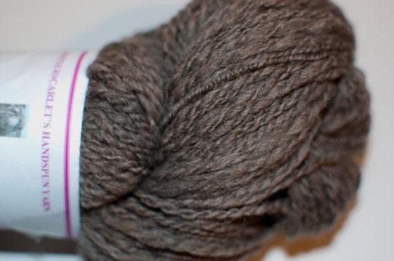 Handspun Grey Falkland Yarn 206g/324yds/DK