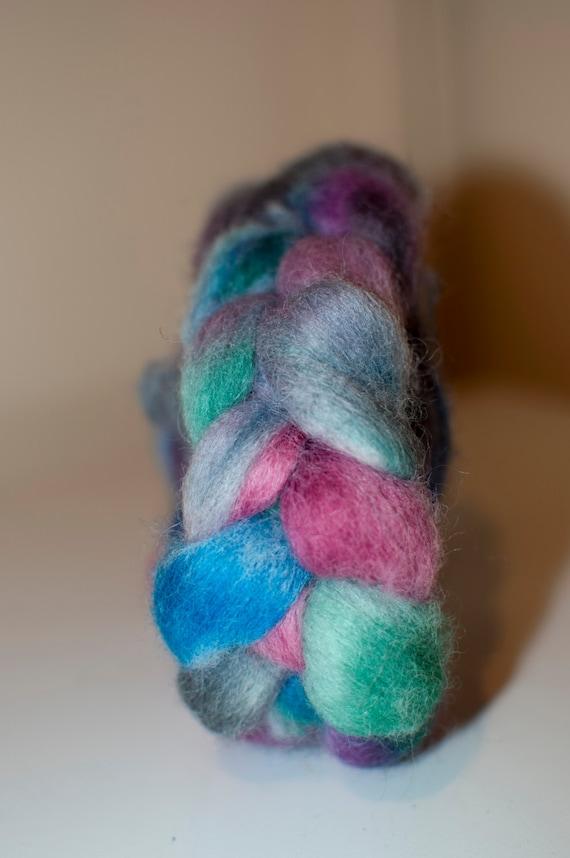 100g Handpainted Merino/Silk Roving in Autumn Days Colourway