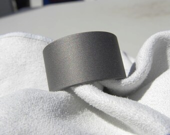 Titanium Ring or Wedding Band Sandblasted Finish Wide Widths