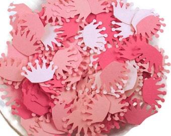 Funfetti Paper Confetti  Die Cut  Crowns in Pink Pop