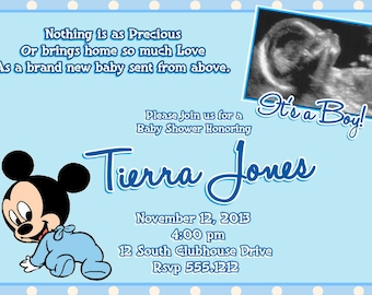 mickey mouse baby shower  etsy, Baby shower