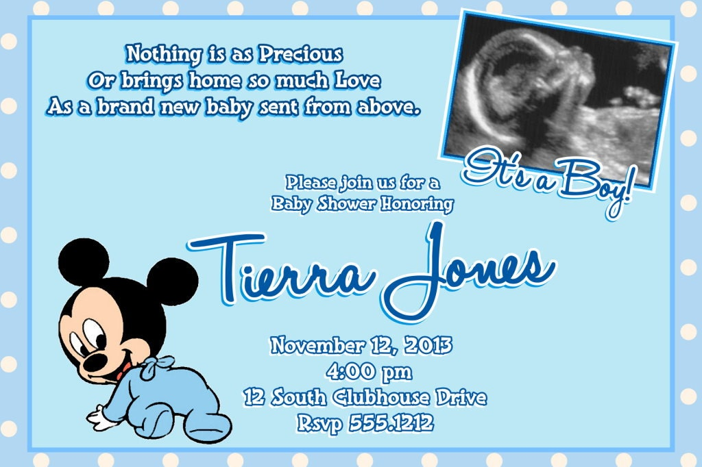 Mickey Mouse Baby Shower Invitation Template – orderecigsjuice.info