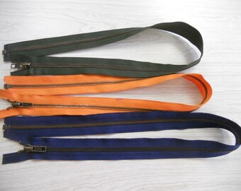BULK 150 brass separating zippers YKK USA green orange blue 31.99 free ship