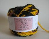 Yellow and Black Corriedale Wool Yarn