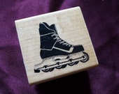 Rollerblade Rubber Stamp