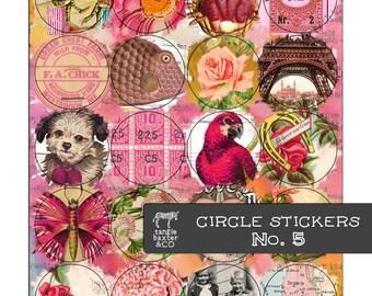 Circle Stickers No. 5