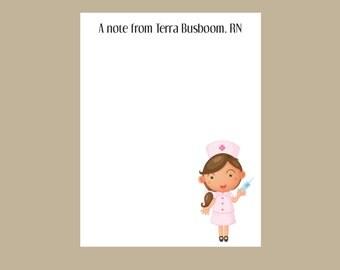 Nurse notepad, school nurse gift, teacher gift