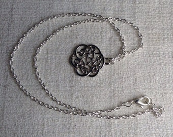 Celtic Knot Vintage Looking Silver Necklace