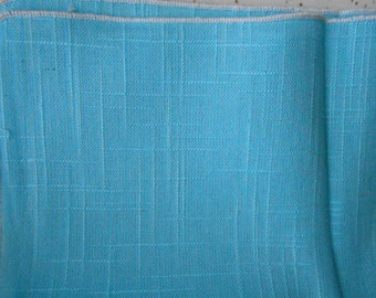 Set of 4 Vintage Never Used Blue Linen Napkins