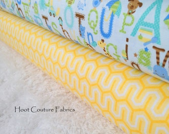 Riley Blake Fabrics 1/4 yard (fat quarter) Bundle from the Snips & Snails and Simply Sweet Collections -  1/2 yard total