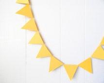 Triangle Garland / Bunting Lemon Yellow 10 ft