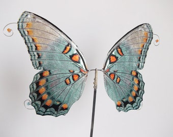 1/6 OOAK Butterfly wings for Dolls  - Libby - Turquoise / Silver