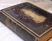 Beautiful Antique 1877 Religious German Book Our Lady Virgin Mary