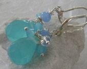 Blue Chalcadony & Crystal