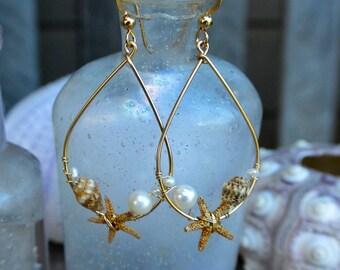 "Free Shipping ""Mermaid Kaila"" Starfish Earrings"