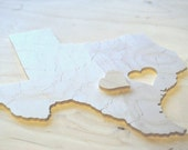 Reserved for Lauren, Arkansas Puzzle Wedding Guest Book, 80 Wood Pieces