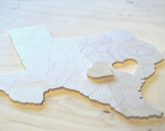 Puzzle Wedding Guest Book, 70 Wood Pieces, Choose a Shape