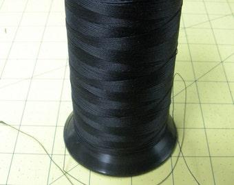 "FREE SHIP 5 CONES 5.5"" tall black nylon heavy duty thread appx. 6 oz. each Heminway Bartlett, Greenwich Connecticut - BearlyArtDesigns Store"