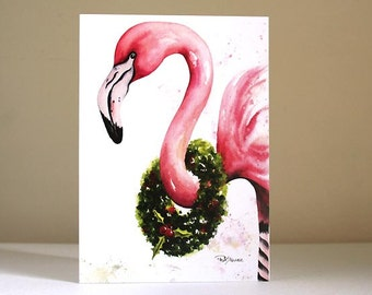 CHRISTMAS CARDS - Holly Day Flamingo - Set of 10