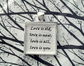 Because by The Beatles Song Lyric Pendant