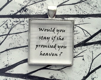 Rhiannon by Fleetwood Mac  Stevie Nicks Song Lyric Pendant Necklace Key Chain